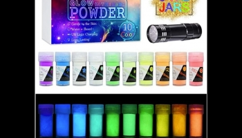 DecorRom Pigment Powder for Glow in the Dark Epoxy Resin, detailed review
