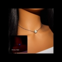Elesea Jewelry Glow in the Dark necklace choker with color-changing bead, detailed review