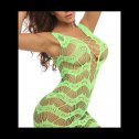 Glow in the dark FasiCat Women Fishnet Mesh dress, full review