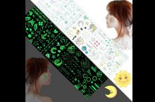 Fanoshon assortment of 100+ glow in the dark decorative temporary tattoos, detailed review