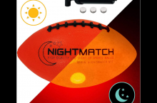 Nightmatch Glow in the dark LED football, full review