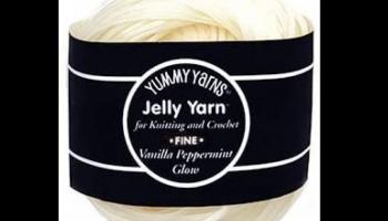 Jelly Yarn Vanilla Peppermint Glow in the Dark Yarn, detailed review