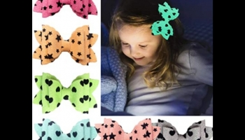 Joyoyo pack of 6 Glow in the Dark hair bows with hearts and stars design, detailed review