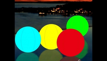 Color Changing LED Beach Ball Glow in the Dark game, detailed review