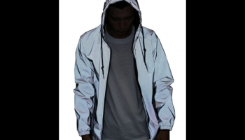 LZLRUN reflective hip hop glow in the dark jacket, detailed review