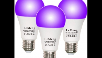 LeMeng LED Glow in the Dark Black Light Bulbs 9W, detailed review