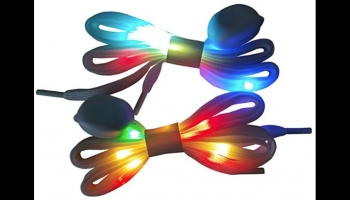 LIHAI 2 Pairs multicolor LED Glow in the Dark Shoe Laces, detailed review
