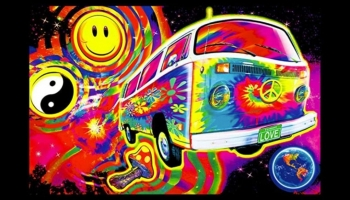 Magic Bus Glow in the Dark Blacklight Poster, detailed review
