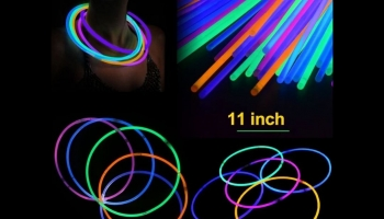 Novelinks Pack of 100 Glow in the Dark necklaces, detailed review