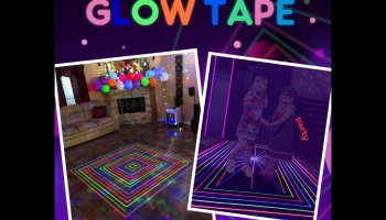 Plazala glow in the dark blacklight colored party tape, detailed review