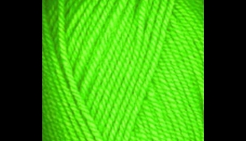 Plymouth Encore Worsted Neon Green Glow in the Dark Yarn, detailed review