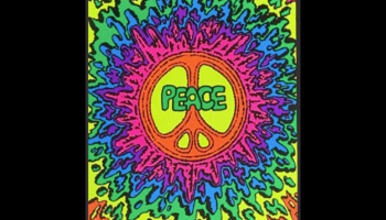 Psychedelic Peace Glow in the Dark Blacklight Poster, detailed review