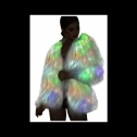 SZTOPFOCUS sparkly furry glow in the dark Jacket, detailed review