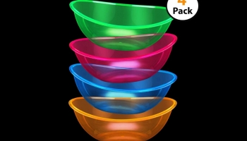Set of 4 Glow in the Dark Plates Snack Bowls, detailed review