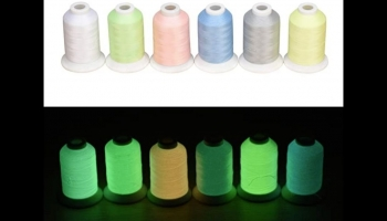 Simthread Glow in the Dark Thread for Embroidery, detailed review