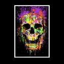 Splatter Skull Glow in the Dark Blacklight Poster, detailed review