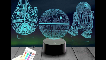 3-pattern 16-color Star Wars Night Light, full review