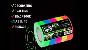 Supplies Sense eco-friendly glow in the dark blacklight party tape, detailed review