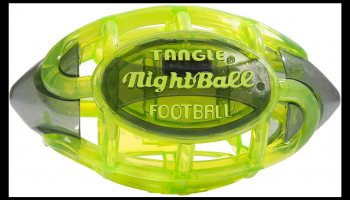 Tangle Glow in the dark light up LED football, full review