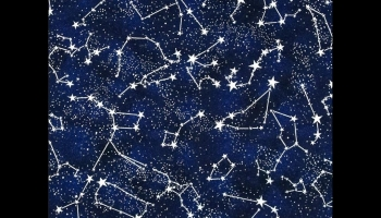 Timeless Treasures Constellations Glow in the Dark fabric, detailed review