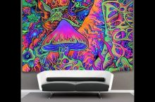 Trippy Mushroom Glow in the Dark Blacklight Poster, detailed review