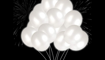 Quelien White LED Light Up Glow in the Dark Balloons, detailed review