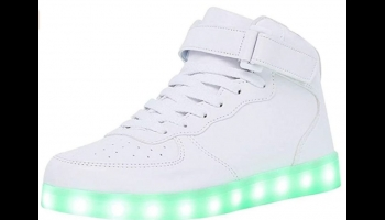 Wonzom High Top Light Up LED Glow in the Dark shoes, detailed review