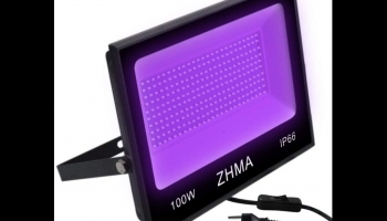 ZHMA 100W Glow in the Dark Black Light bulbs stage light, detailed review