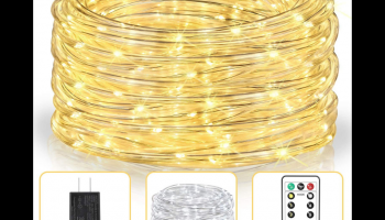 Asmader LED rope light, twinkle fairy style, full review