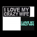 Glow in the dark I Love My Crazy Wife morale patch review