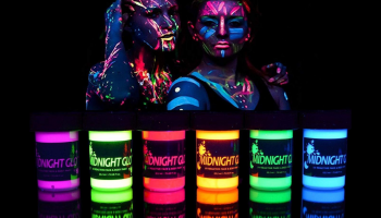 Midnight Glo Glow in the dark face and body paint review