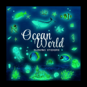 Glow in the dark fish / ocean sticker pack review