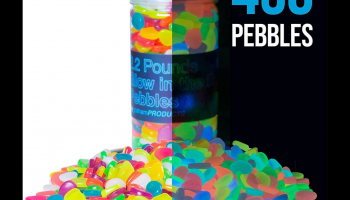 Glow in the dark multicolor pebbles (Graham Products) review