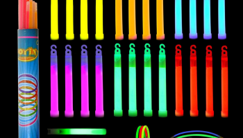 Whistle shape glow sticks and long sticks for neon party review